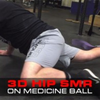 3D Hip SMR On Medicine Ball