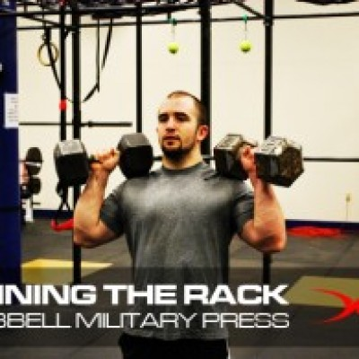 Running the Rack Dumbbell Military Press